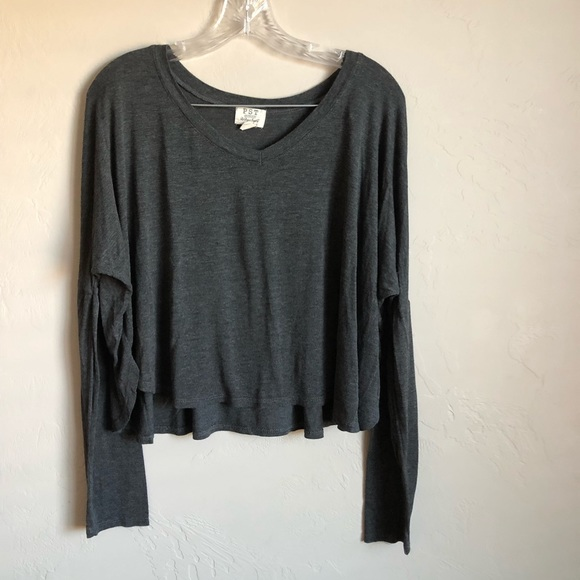 Project Social T Tops - **Host Pick** Project Social T Gray Cropped Top
